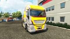 Pele Oi Forma Amarelo Cinza no caminhão Iveco
