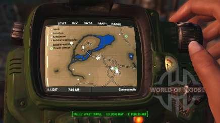 Mapa de cores com símbolos para Fallout 4