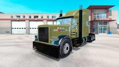 EUA Exército pele para Peterbilt 389 caminhão