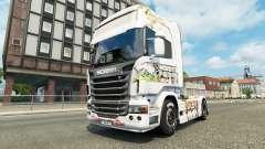 Pele Kinder na unidade de tracionamento Scania