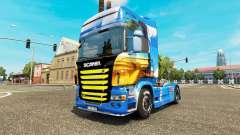 Pele Ilha na unidade de tracionamento Scania