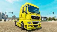 Gertzen Transporte de pele para HOMEM caminhão