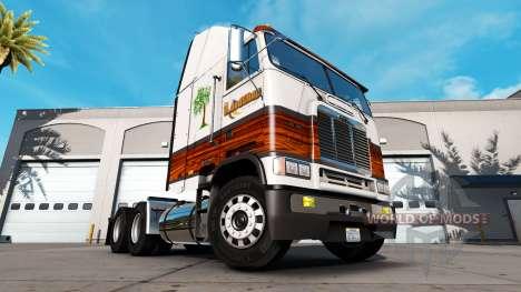 Pele de carpintaria para uma unidade de traciona para American Truck Simulator