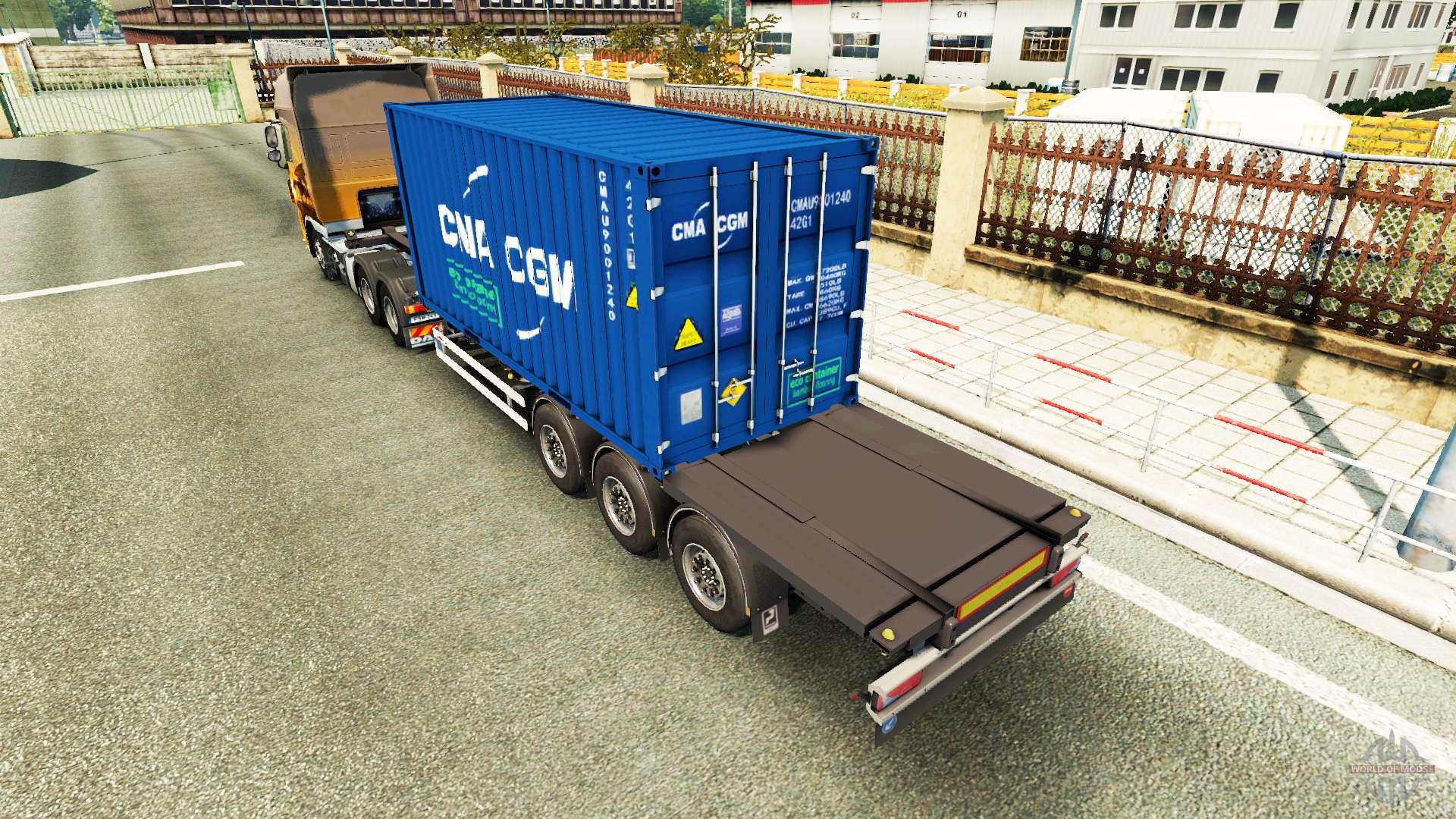 Semi-reboque recipiente v2 0 para Euro Truck Simulator 2