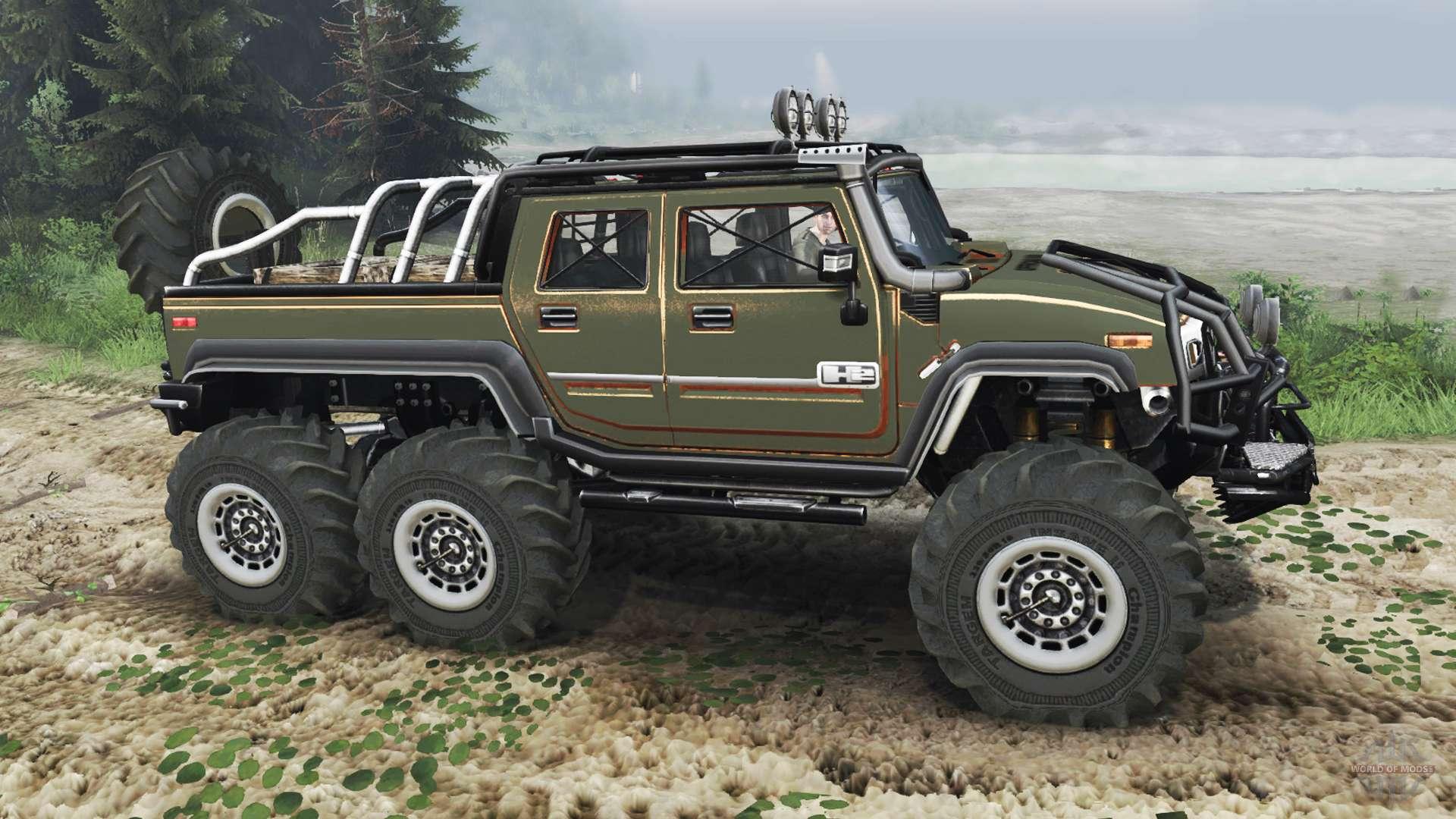 Hummer H2 6x6 Diesel 03 03 16 Para Spin Tires