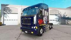 Pele Putin no caminhão Freightliner Argosy