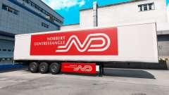 Norbert Dentressangle pele para um trailer