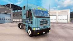 Pele Werner no caminhão Freightliner Argosy