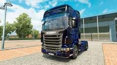 Pele Azul de Fumaça no trator Scania