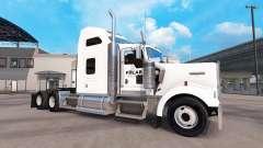 A pele em um Polar Indústrias caminhão Kenworth