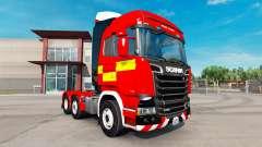 Para a pele do Fogo Caminhão trator Scania R730