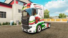 Ferrari pele para a Scania caminhão R700