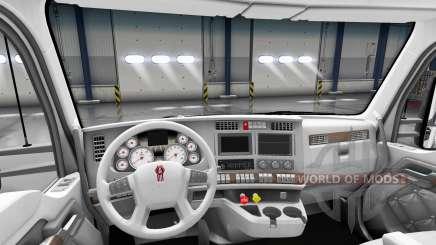Branco Kenworth T680 interior para American Truck Simulator