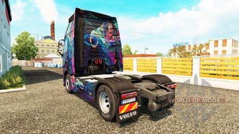O Fractal de Chama pele para a Volvo caminhões para Euro Truck Simulator 2