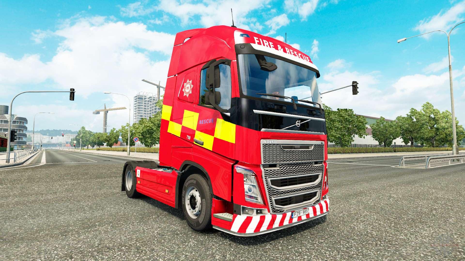 Pele de Incêndio E Salvamento, de Volvo caminhões para Euro
