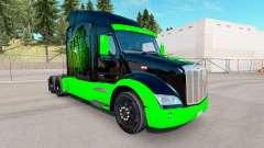 Monster Energy pele para o caminhão Peterbilt