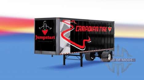 Todo em metal, semi-reboque, Canadian tire para American Truck Simulator