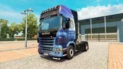 Efeito de massa pele para o Scania truck
