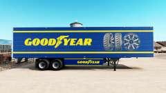 Pele Goodyear em refrigerada com semi-reboque
