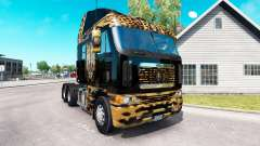 A pele de Onça pintada no caminhão Freightliner
