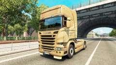 A pele no 50º Aniversário de trator Scania