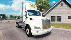 A pele NOS Alimentos caminhão Peterbilt
