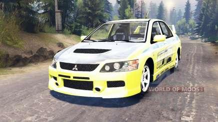 Mitsubishi Lancer Evolution IX [Форсаж 2] para Spin Tires
