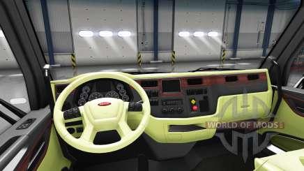 Creme interior Peterbilt 579 para American Truck Simulator