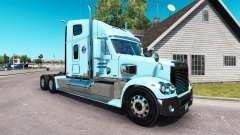 Pele de Gordon no caminhão Freightliner Coronado