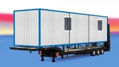 Baixa varrer com uma construção trailer