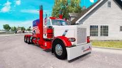 EUA pele para o caminhão Peterbilt 389