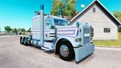 A pele Azul-branco listras para o caminhão Peter