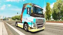 Natureza pele para a Volvo caminhões