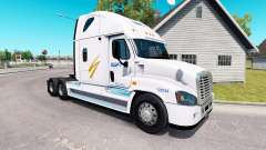 Pele Swift no trator Freightliner Cascadia