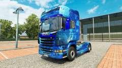 De Água da pele no trator Scania