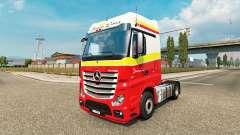 Simon Loos pele para o caminhão Mercedes-Benz