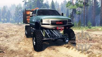 GMC Sierra 3500 2001 6x6 para Spin Tires
