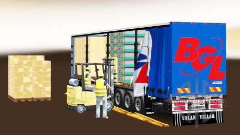 Cortina semi-reboque Schmitz Cargobull BGL para Euro Truck Simulator 2