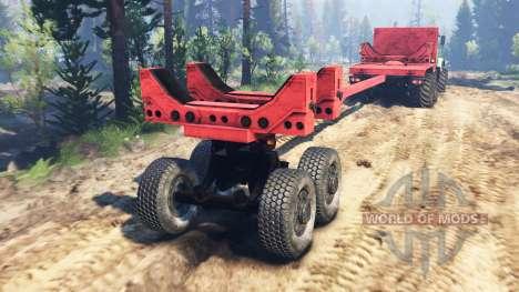 KrAZ-63221 v2.0 para Spin Tires
