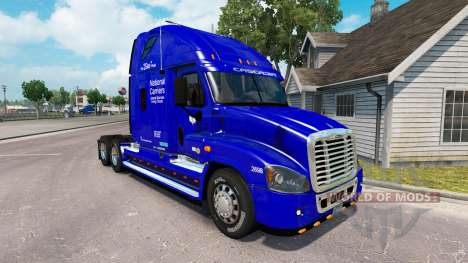 Скин Transportadora Nacional на Freightliner Cascadia para American Truck Simulator