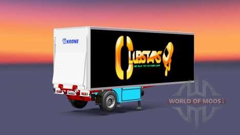 Semi-reboque frigorífico Krone Coroa Clube Estre para Euro Truck Simulator 2