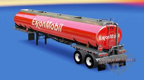 A pele da ExxonMobil no tanque de combustível para American Truck Simulator