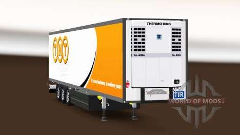 Semi-reboque frigorífico Schmitz Cargobull TNT para Euro Truck Simulator 2
