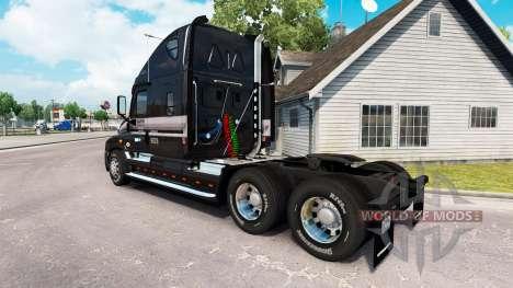 A pele de MARTA no caminhão Freightliner Cascadia para American Truck Simulator