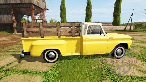 Chevrolet C10 Fleetside 1966 para Farming Simulator 2017