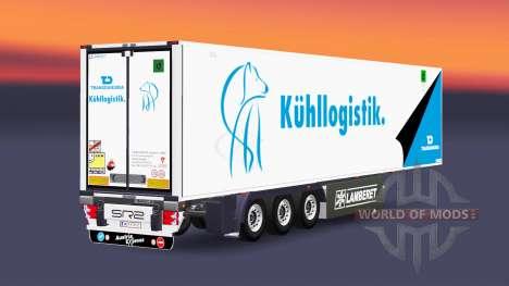 Caminhão de cargas reefer PT TRANS-Danubia para Euro Truck Simulator 2