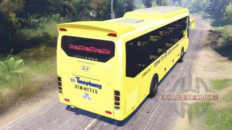 Hyundai Universe para Spin Tires