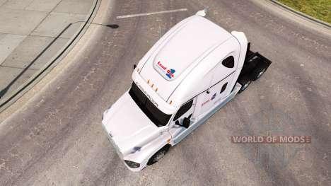 Pele de Carga em um caminhão Freightliner Cascad para American Truck Simulator