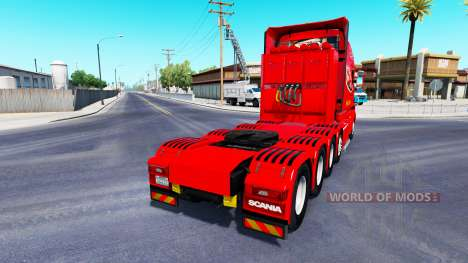 Dom Toretto pele para caminhão Scania T para American Truck Simulator