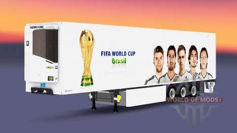 Caminhão de cargas reefer PT Copa do Mundo da FI para Euro Truck Simulator 2